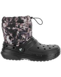 Crocs™ Sandal lined in fleece - Schwarz