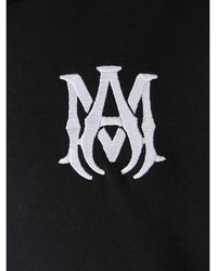 Amiri Embroidered Logo Hoodie Negro