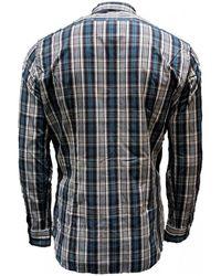 Robert Friedman Camisa Cuadros - Gris