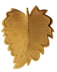 Dolce & Gabbana Leaf Brooch - Metallizzato