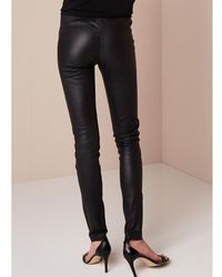 Arma Roche stretch leather leggings Negro