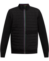 PS by Paul Smith Jacket With Quilted Front - Zwart