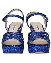 Miu Miu Sandali Paillettes - Blauw