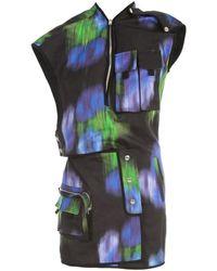 KENZO Printed Utility Short Dress Negro