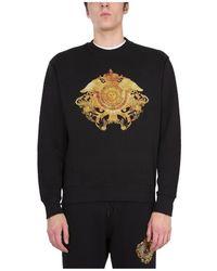 Versace Jeans Couture - Sweatshirt Met Ronde Hals - Lyst