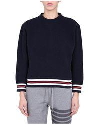 Thom Browne Crew Neck Sweater - Blauw