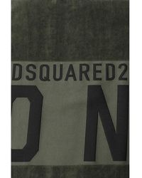 DSquared² Towel with logo Verde