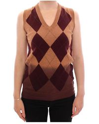 Dolce & Gabbana Sleeveless Vest Sweater - Bruin