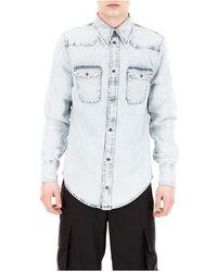 Calvin Klein Denim Western Shirt - Blauw