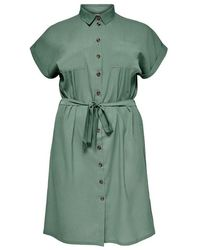 Only Carmakoma Diega Ss Dress - Groen