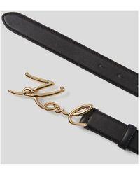 Karl Lagerfeld Signature Belt - Nero