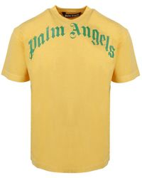 Palm Angels - Curved Logo T-Shirt - Lyst