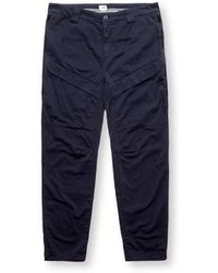 C.P. Company Cargo Trousers With Side Waves - Blauw