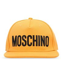Moschino Baseball Cap With Logo - Oranje