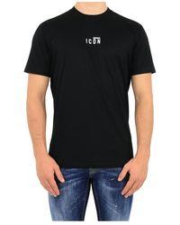 DSquared² T-shirt Icon Small - Zwart