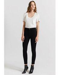 Current/Elliott Jeans The High Waist Stiletto Negro