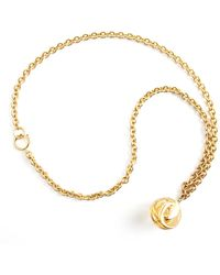 Chanel Vintage Raisin Ball Pendant Long Necklace - Bruin
