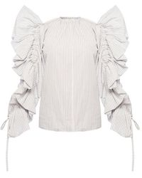 Givenchy Top Met Ruches - Blauw