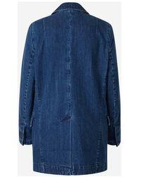 J Brand Relaxed Denim Blazer Azul