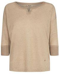 Mos Mosh Kiara 3/4 blouse bluser 136870 - Neutro