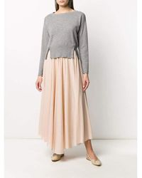 Fabiana Filippi Pleated midi skirt Rosa