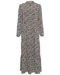 Moss Copenhagen Glorie Rikkelie Maxi Dress - Grijs