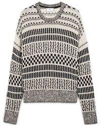 AMI Crewneck Oversize Sweater - Grijs