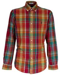 Polo Ralph Lauren Shirt With Check - Rood