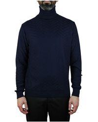 Hermès Knitwear Turtleneck Sweater - Blauw