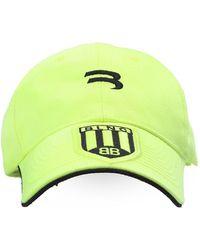 Balenciaga Branded Baseball Cap - Geel