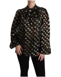 Dolce & Gabbana Zijden Blouse - Zwart