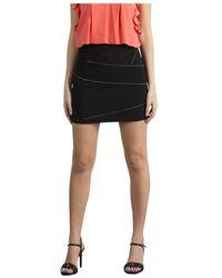 Patrizia Pepe Skirt Gonna Mini Con Strass - Zwart