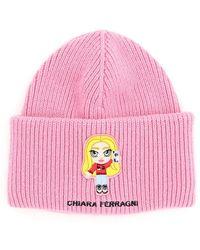 Chiara Ferragni Cfmascotte embroidery hat - Rose