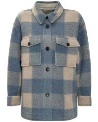 Étoile Isabel Marant Plaid Coat - Blauw