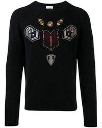 Dries Van Noten Embroidered Master Patch Sweater - Zwart
