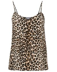 Equipment Top Layla Leopard Print - Bruin