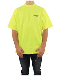Balenciaga Large Fit T-shirt - Geel