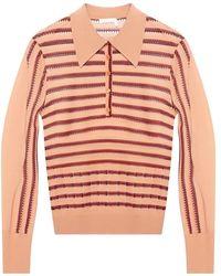 Chloé Openwork Sweater - Roze