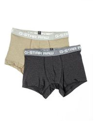G-Star RAW Classic Trunks Two Per Pack - Natur