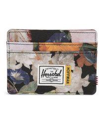 Herschel Supply Co. Porte Carte Charlie Floral - Naturel