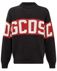 Gcds Sweater with Logo Band - Noir