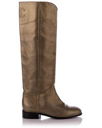 Chanel Vintage Leather High Riding Boots - Bruin