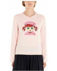 Comme des Garçons Ndn0010512 Sweater - Roze