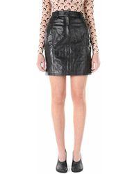 Marine Serre Moon Leather Mini Skirt - Zwart