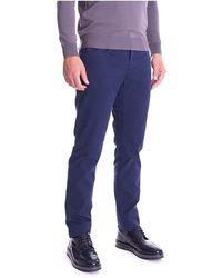 Trussardi 370 Jeans In Stretch Piquet - Blauw