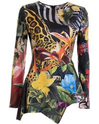 Roberto Cavalli - Jungle printed blouse - Lyst