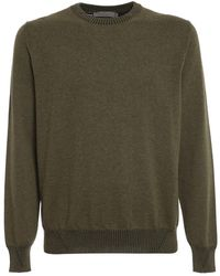 Canali Roundneck Knitwear - Groen