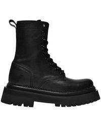 AMI Lace-up Boots - Zwart