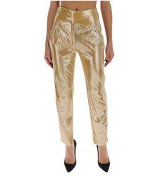 Blazé Milano Straight trousers with a shiny finish - Amarillo