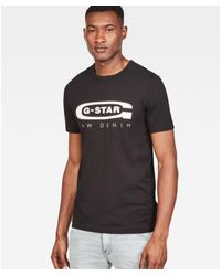 G-Star RAW Graphic logo 4 t-shirt D15104-336-6484 Negro